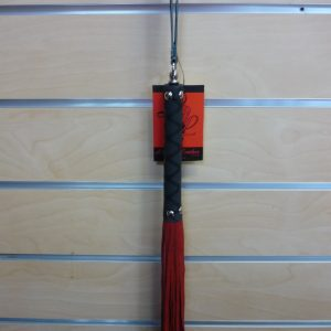 Red Suede Tail/Rubber Handle