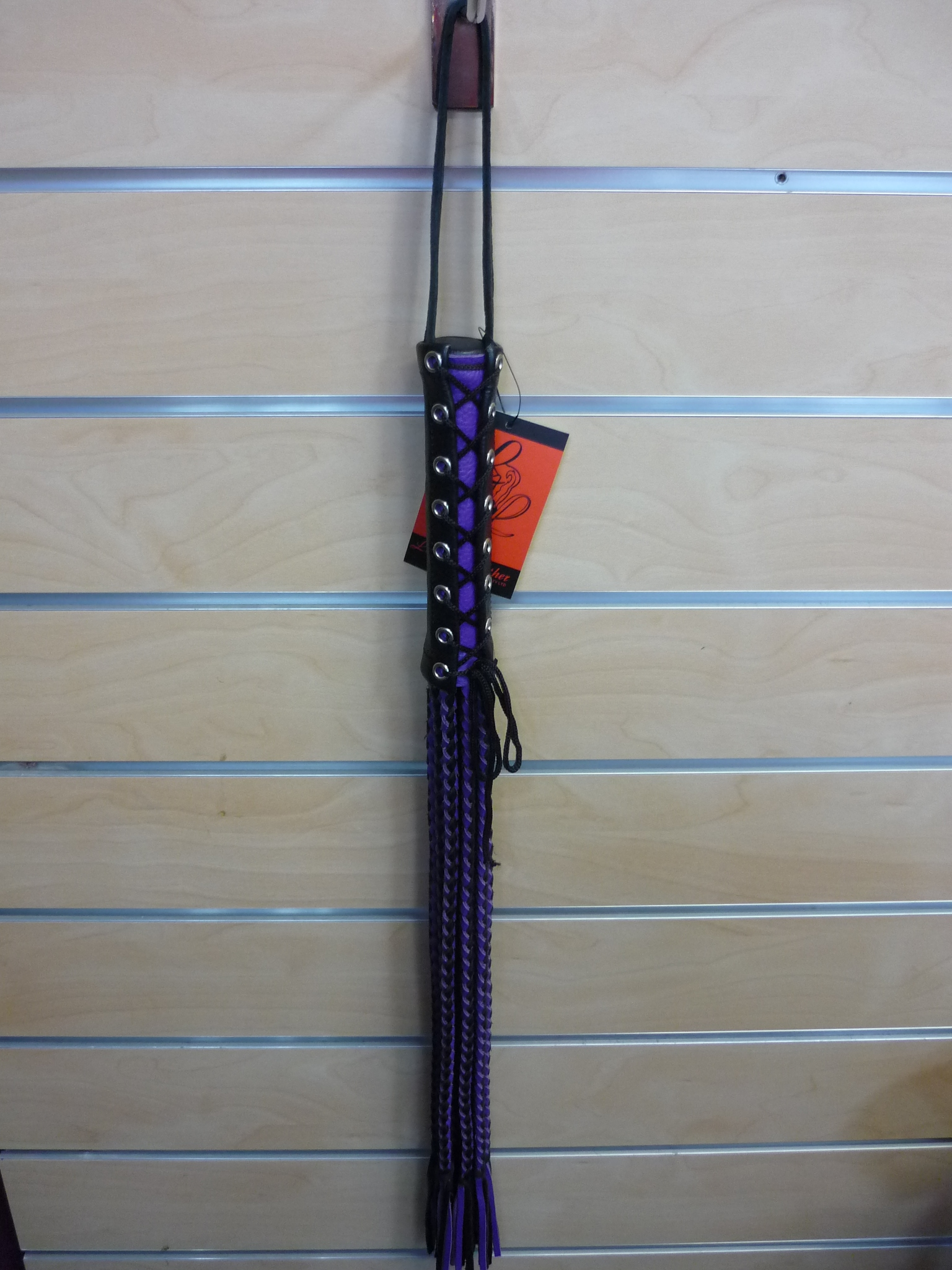 Plaited Flogger Purple/Black