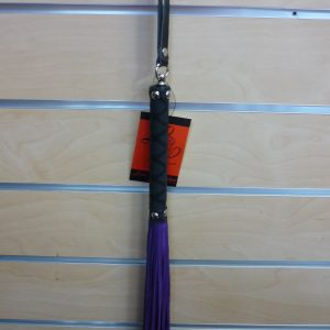 Purple Suede Tail/Rubber Handle