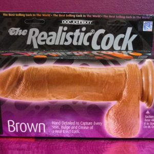 The Realistic Cock 8 Inch Brown