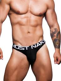 Andrew Christian Almost Naked Premium Thong BLK