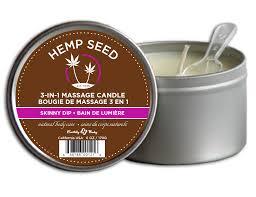 hemp seed massage candle